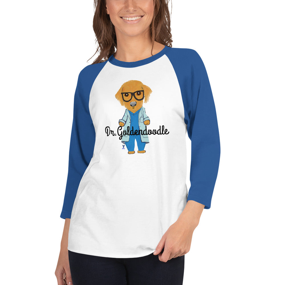 Dr.Goldendoodle 3/4 sleeve raglan shirt I 10 colors - pickie shop