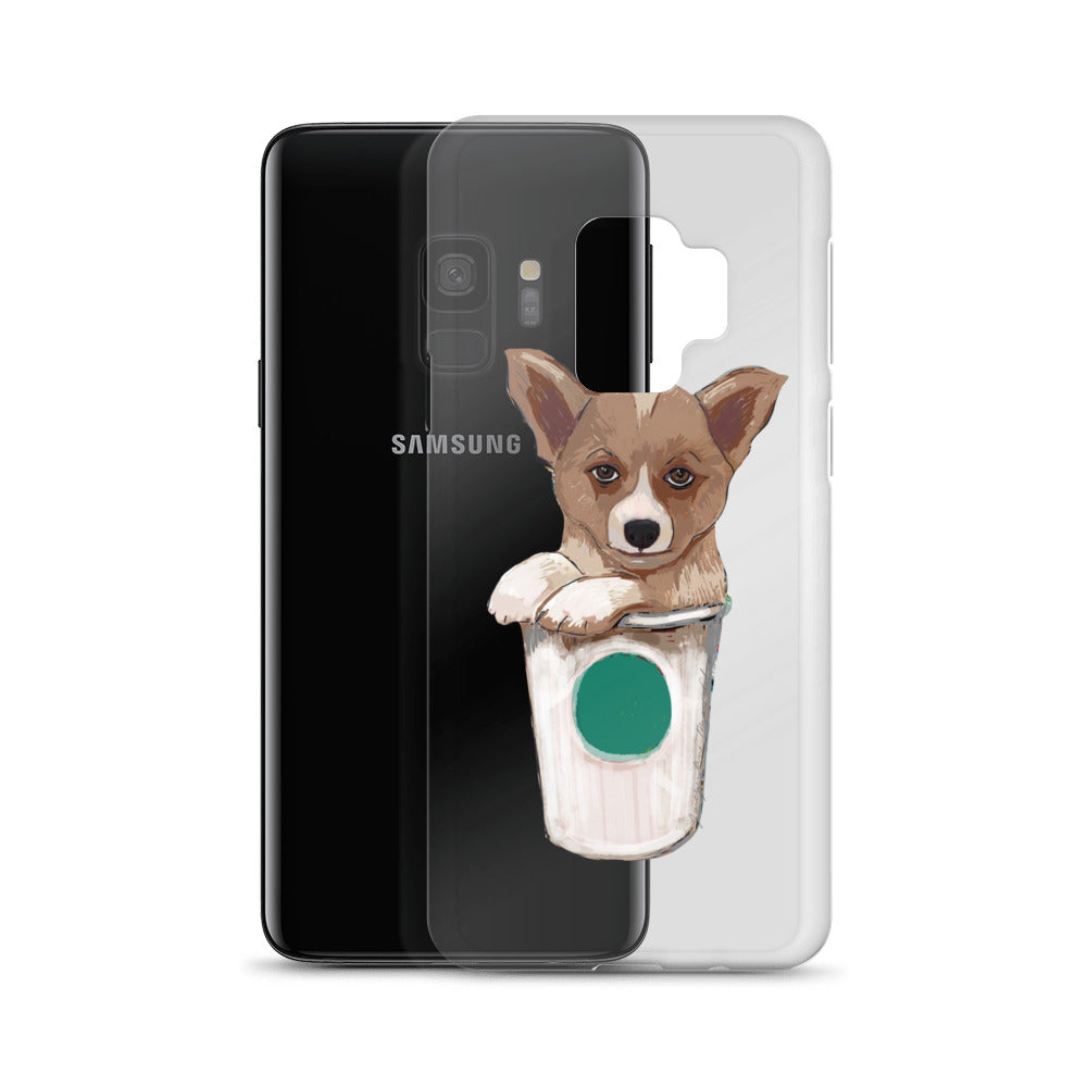 Corgi loves coffee - Samsung phone Case - pickie shop