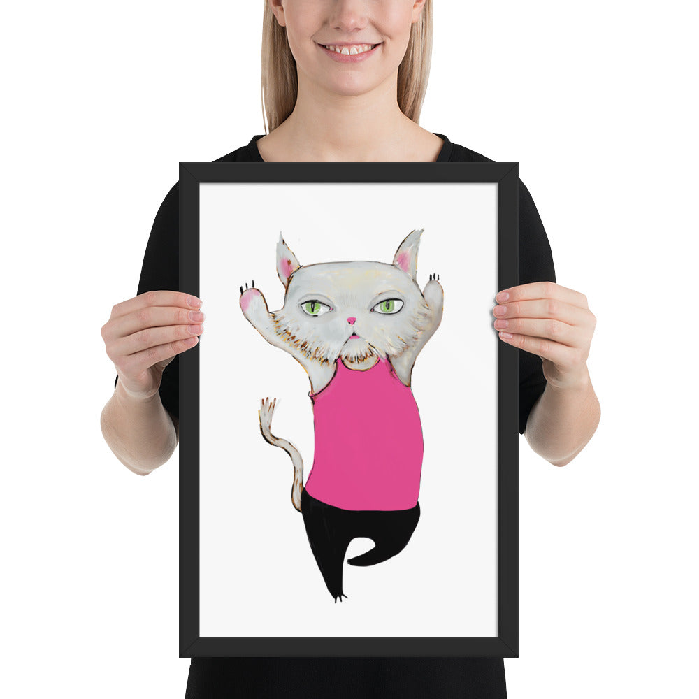 Cat Framed poster - pickie shop