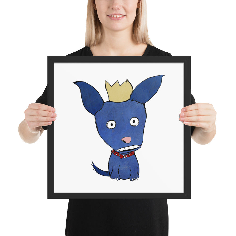 Blue Dog Framed poster - pickie shop