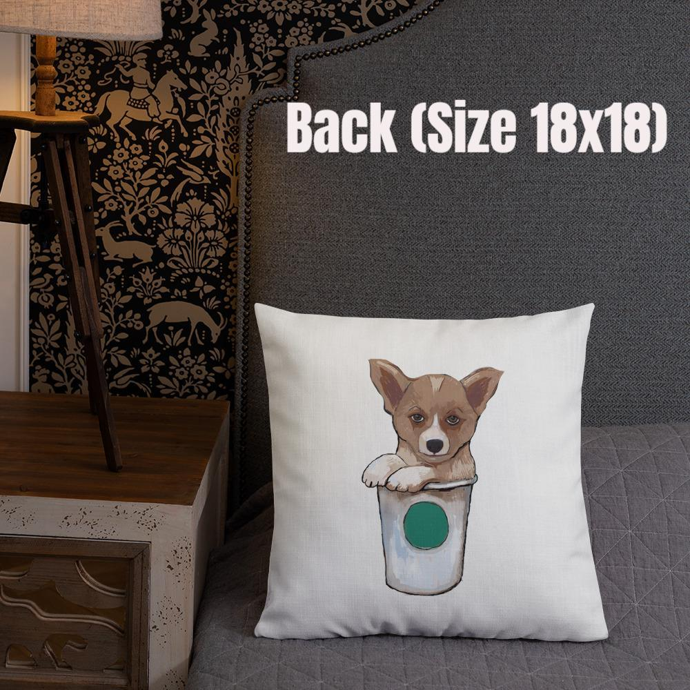 Corgi Premium Pillow with stuffing - pickie shop