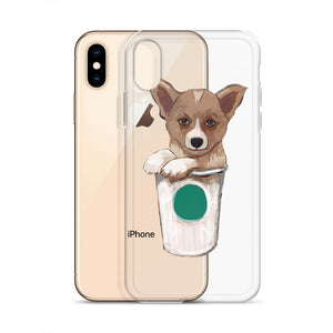 Corgi loves coffee - iPhone Case - pickie shop