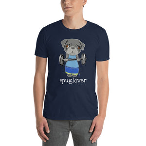 Pug Body Builder T-Shirt I Black / Navy - pickie shop