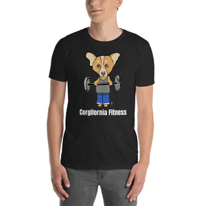 Corgi Body Builder T-Shirt I Black / Navy - pickie shop