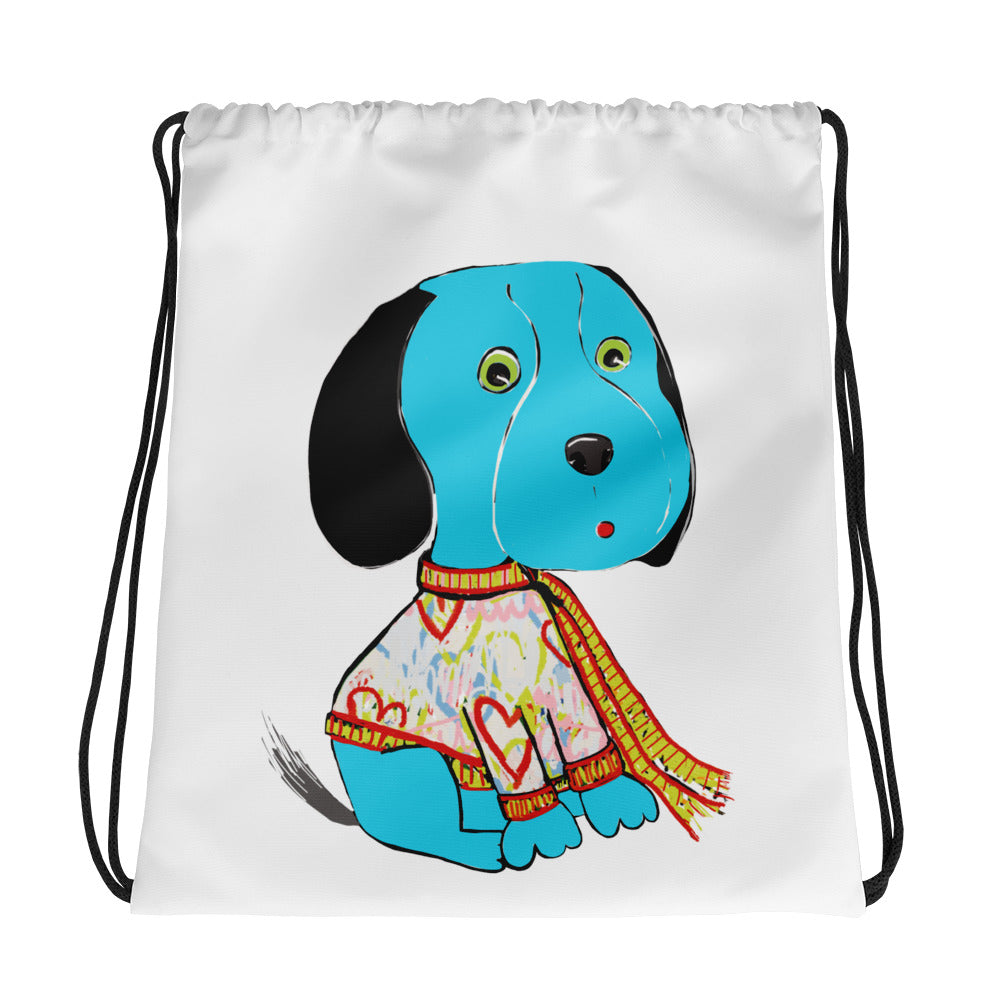 Blue Beagle Drawstring bag - pickie shop