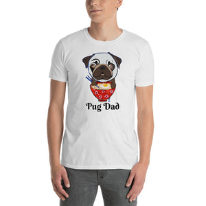 Pug eating Ramen T-Shirt I White / Grey - pickie shop