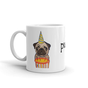 Birthday Pug Coffee Mug - pickie shop