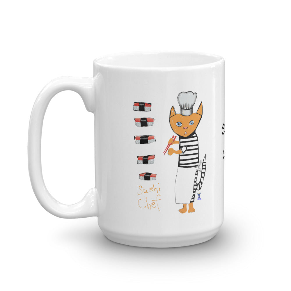 Sushi Chef Cat Coffee Mug - pickie shop