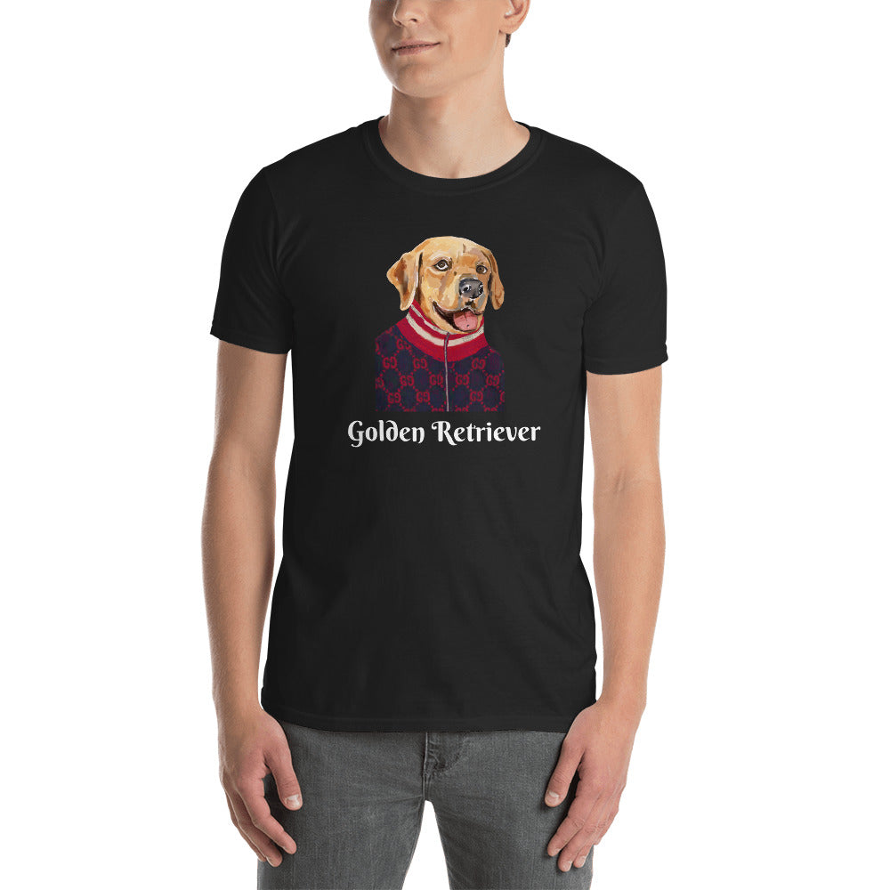 Golden Retriever T-Shirt I Black / Navy - pickie shop