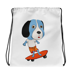 Skateboarding Beagle Drawstring bag - pickie shop