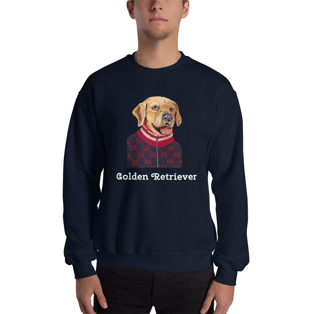 Golden Retriever Sweatshirt I Black / Navy - pickie shop