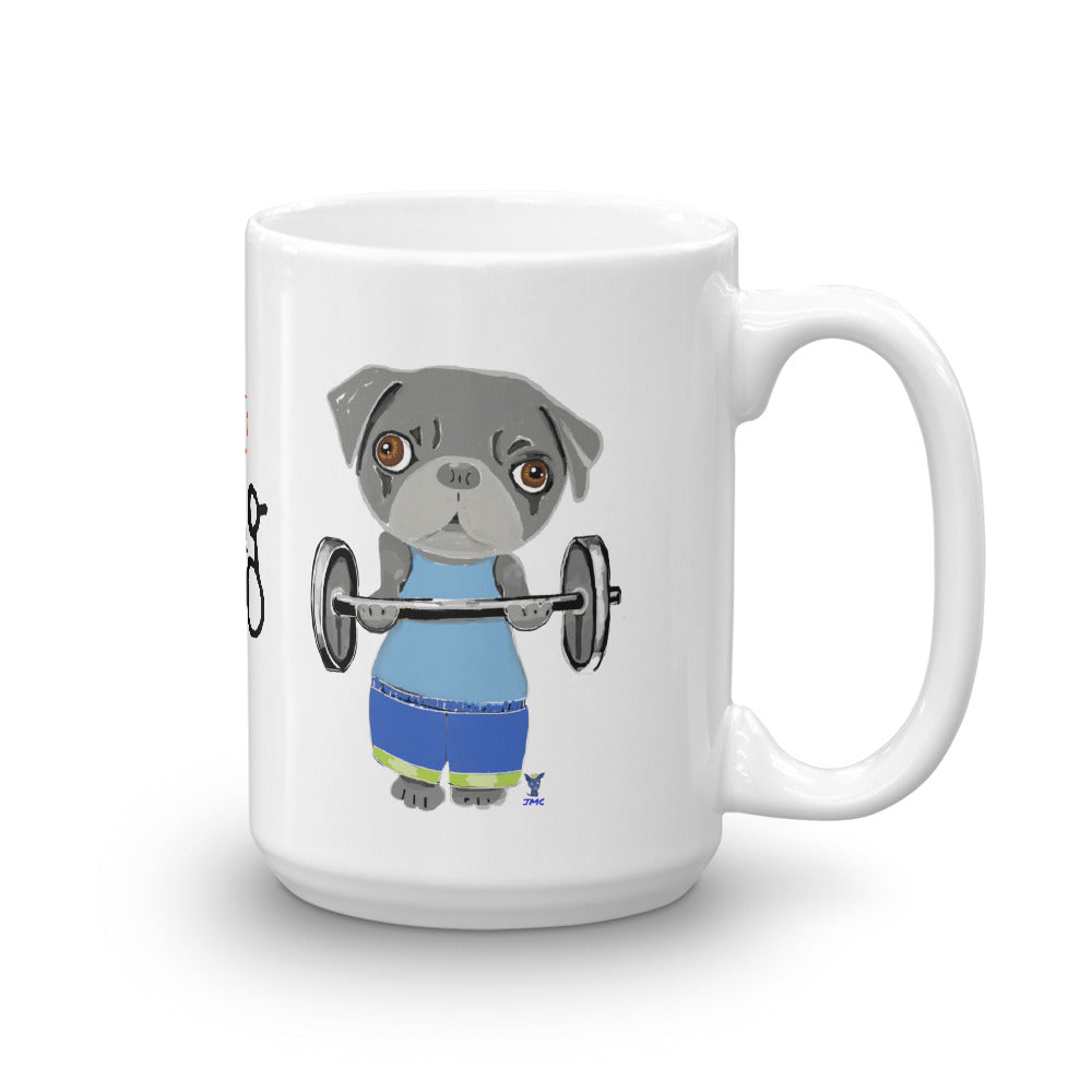 Pug Body Builder Coffee Mug - pickie shop