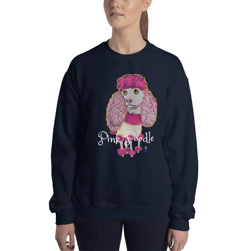 Pink Poodle Sweatshirt I Black / Navy - pickie shop