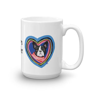Boston Terrier in the Heart Coffee Mug - pickie shop