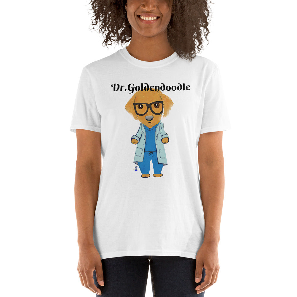 Dr.Goldendoodle T-Shirt I White / Grey - pickie shop