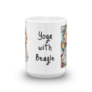 Yoga with Beagle Coffee Mug - pickie shop