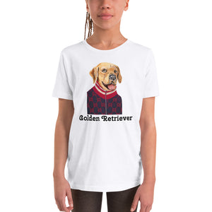 Golden Retriever Youth T-Shirt I White / Grey - pickie shop