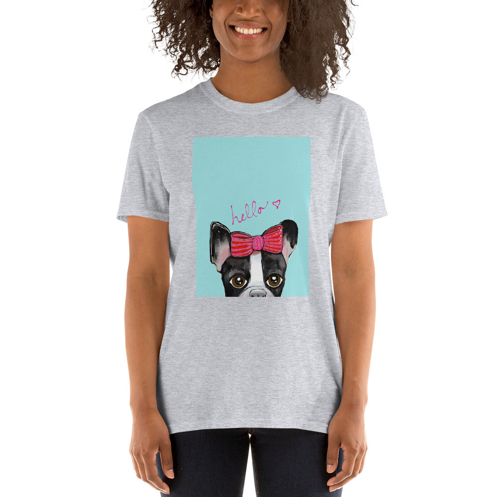 Hello, Boston Terrier T-Shirt I 4 colors I no personalization - pickie shop
