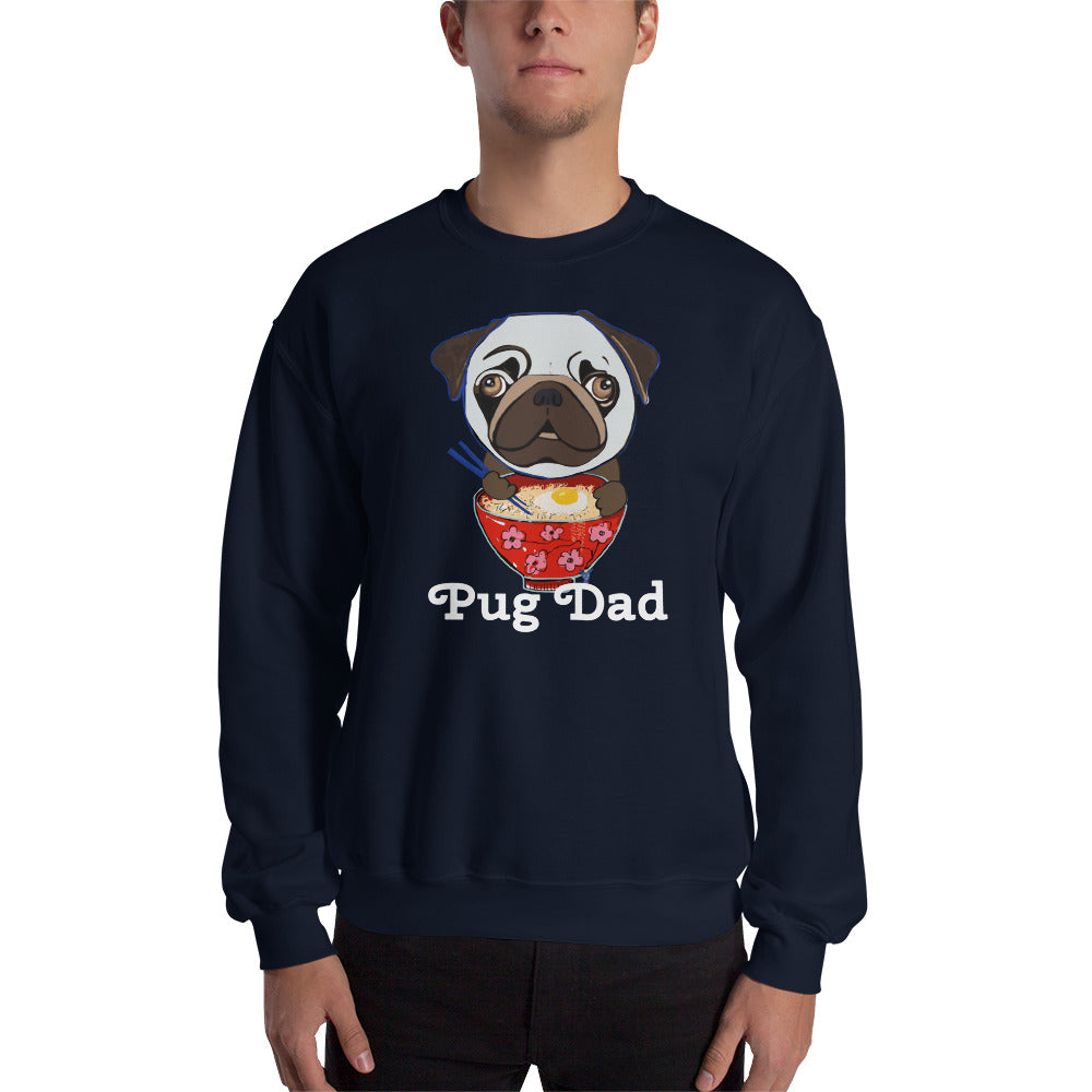 Pug eating Ramen Sweatshirt I Black / Navy - pickie shop