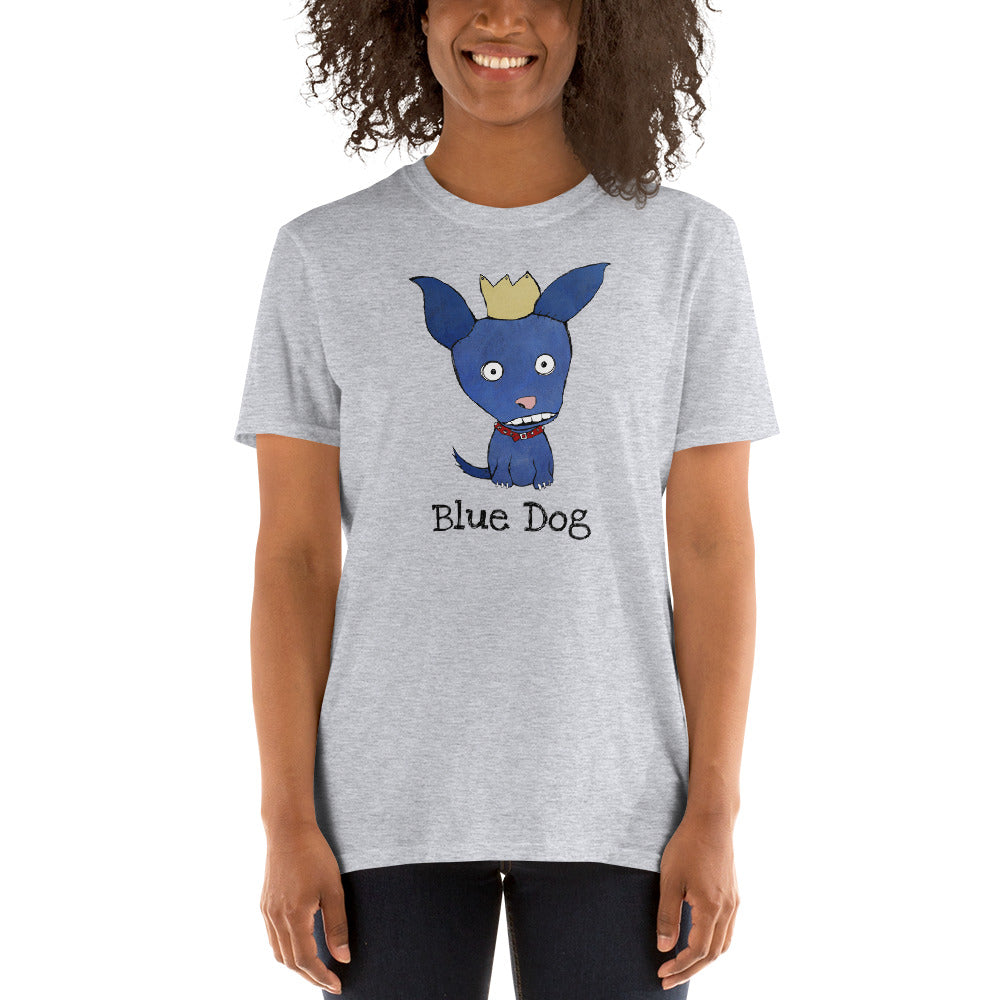 Blue Dog T-Shirt I White / Grey - pickie shop