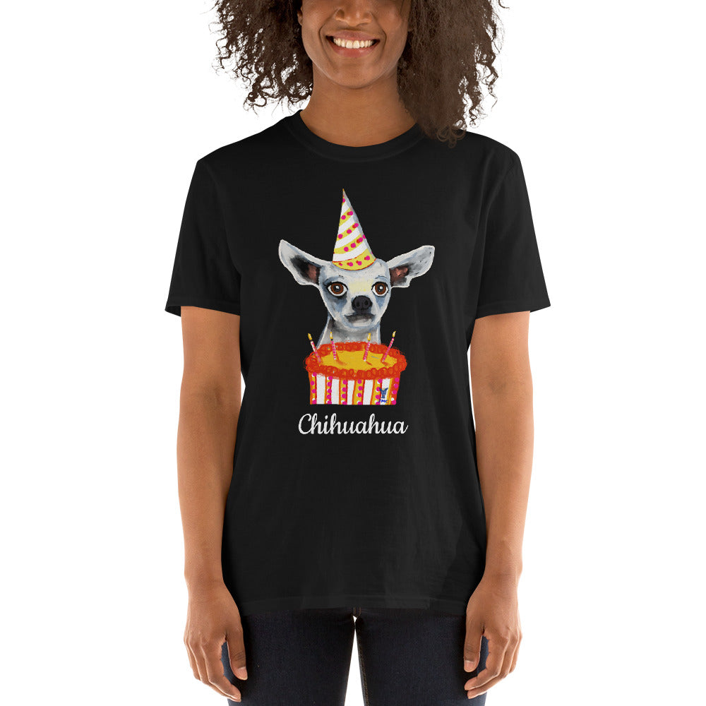 Birthday Chihuahua T-Shirt I Black / Navy - pickie shop