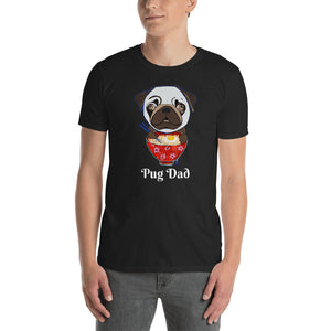 Pug eating Ramen T-Shirt I Black / Navy - pickie shop