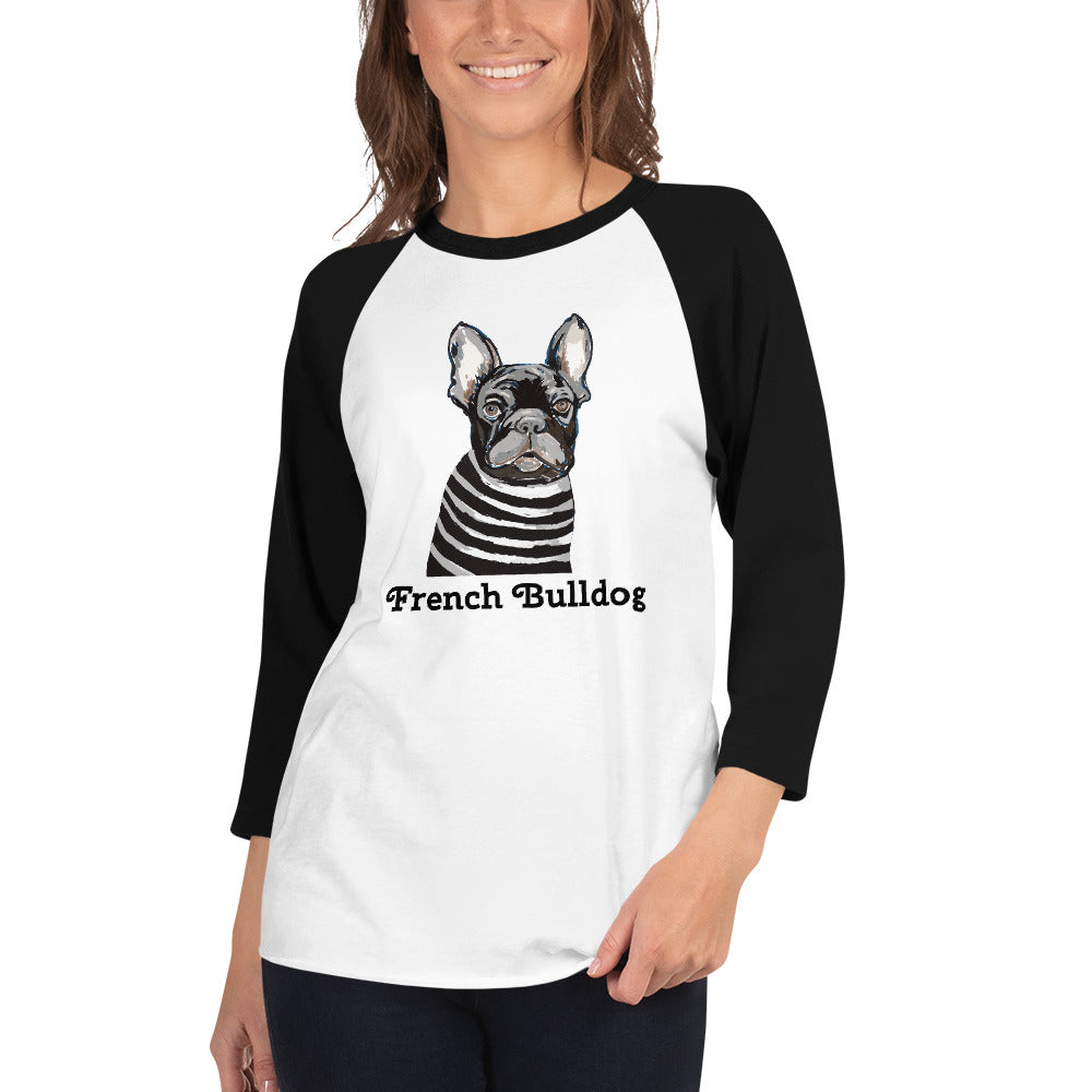 French Bulldog 3/4 sleeve raglan shirt I 10 colors - pickie shop