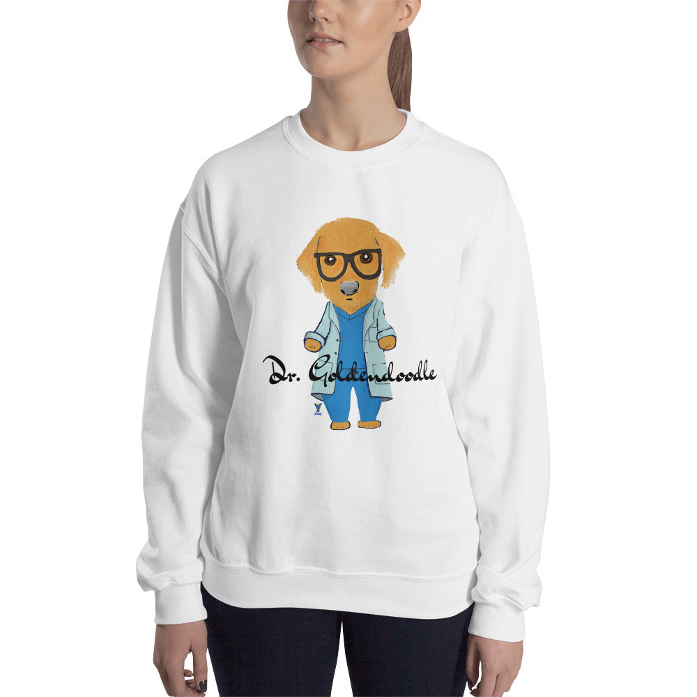 Dr. Goldendoodle Sweatshirt I White / Grey - pickie shop