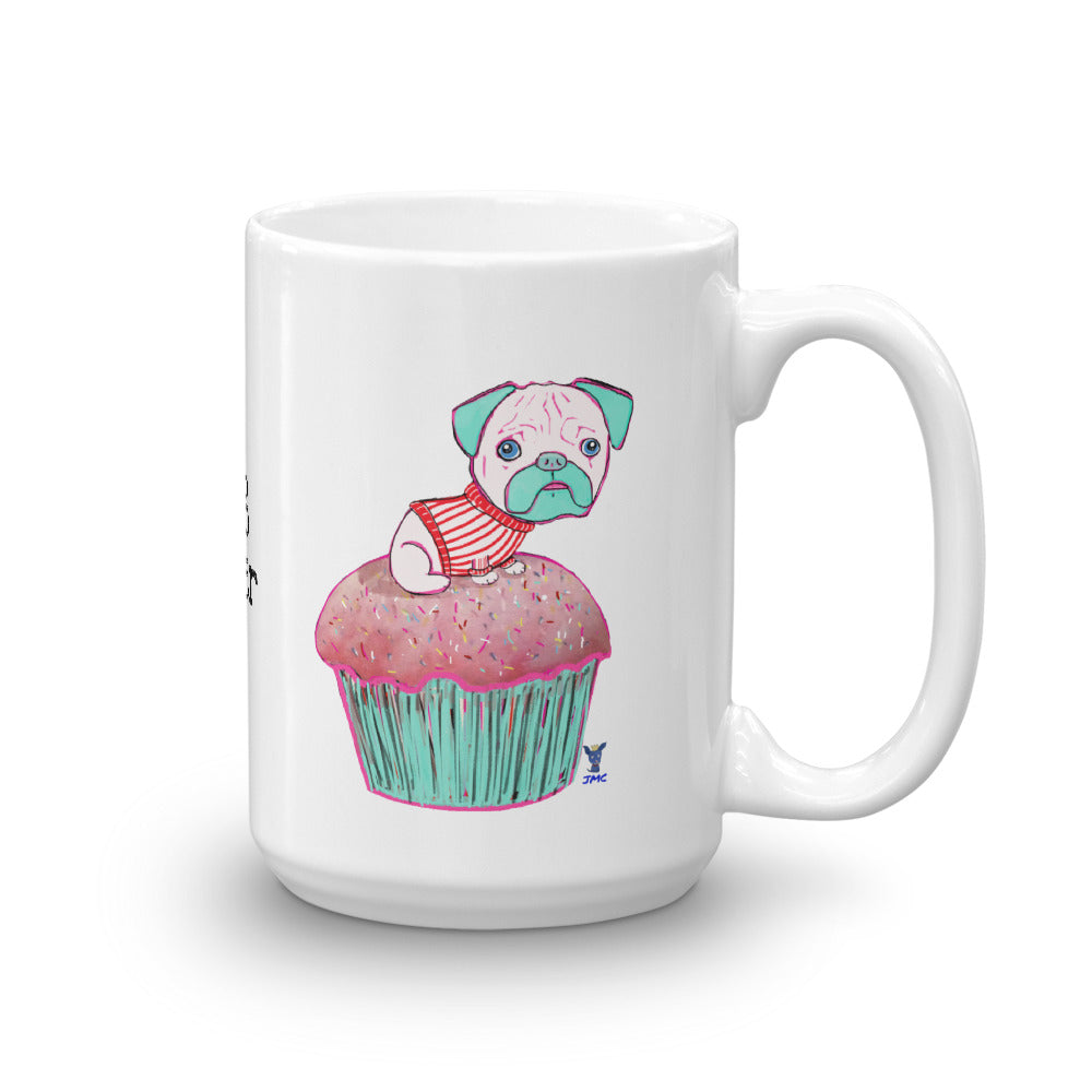 Pug on the cupcake Coffee Mug - pickie shop