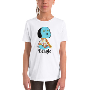 Blue Beagle Youth T-Shirt I White / Grey - pickie shop