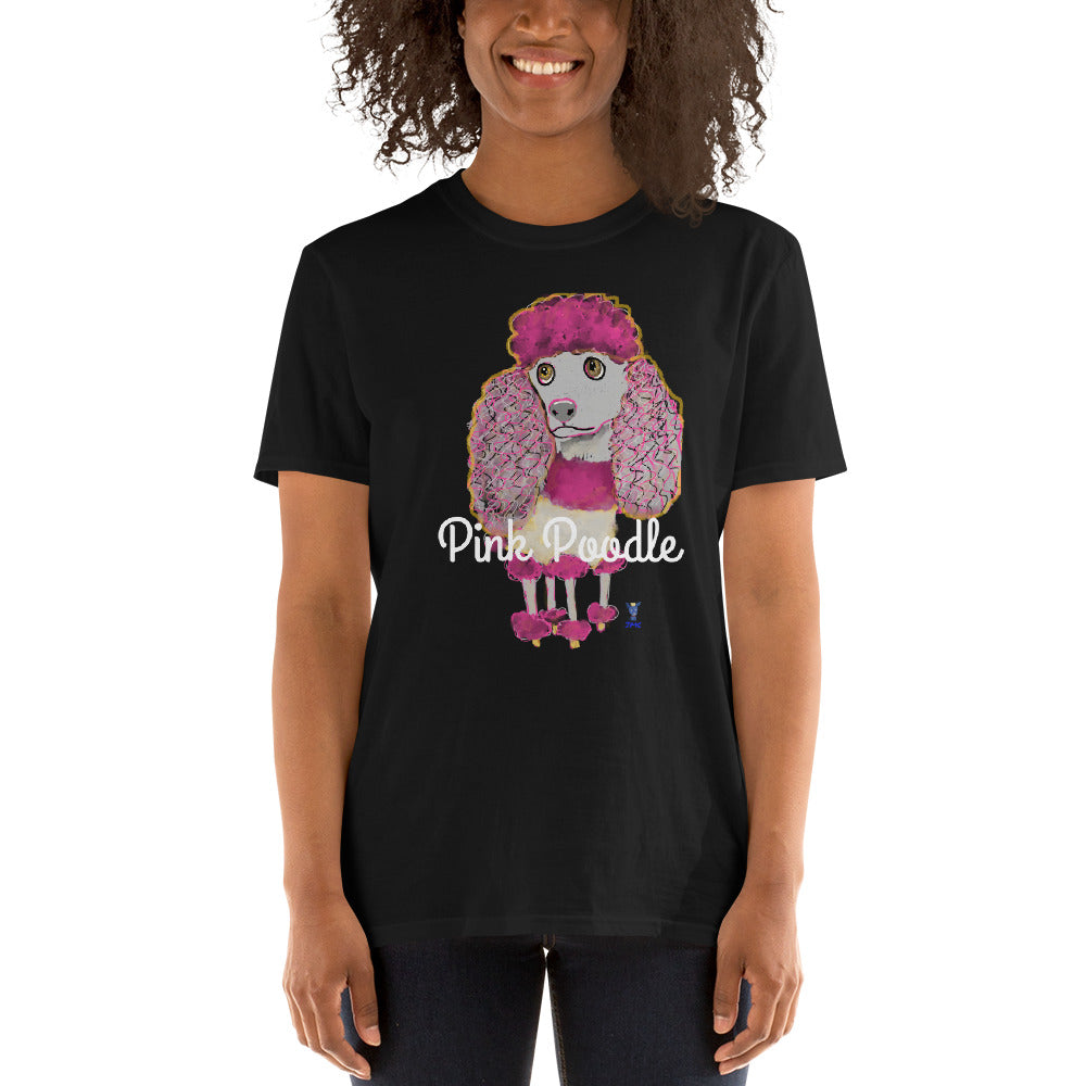 Pink Poodle T-Shirt I Black / Navy - pickie shop