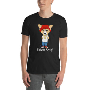 BadAss Corgi T-Shirt I Black / Navy - pickie shop