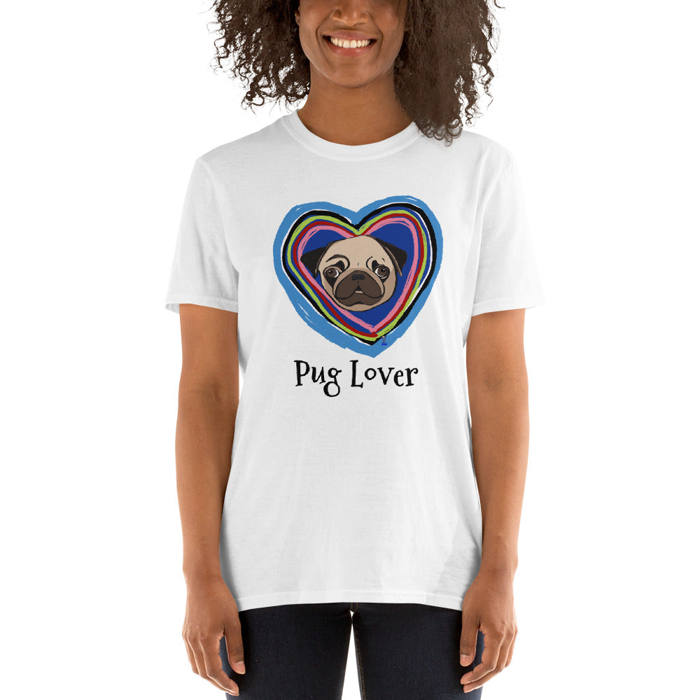 Pug in the Heart T-Shirt I White / Grey - pickie shop