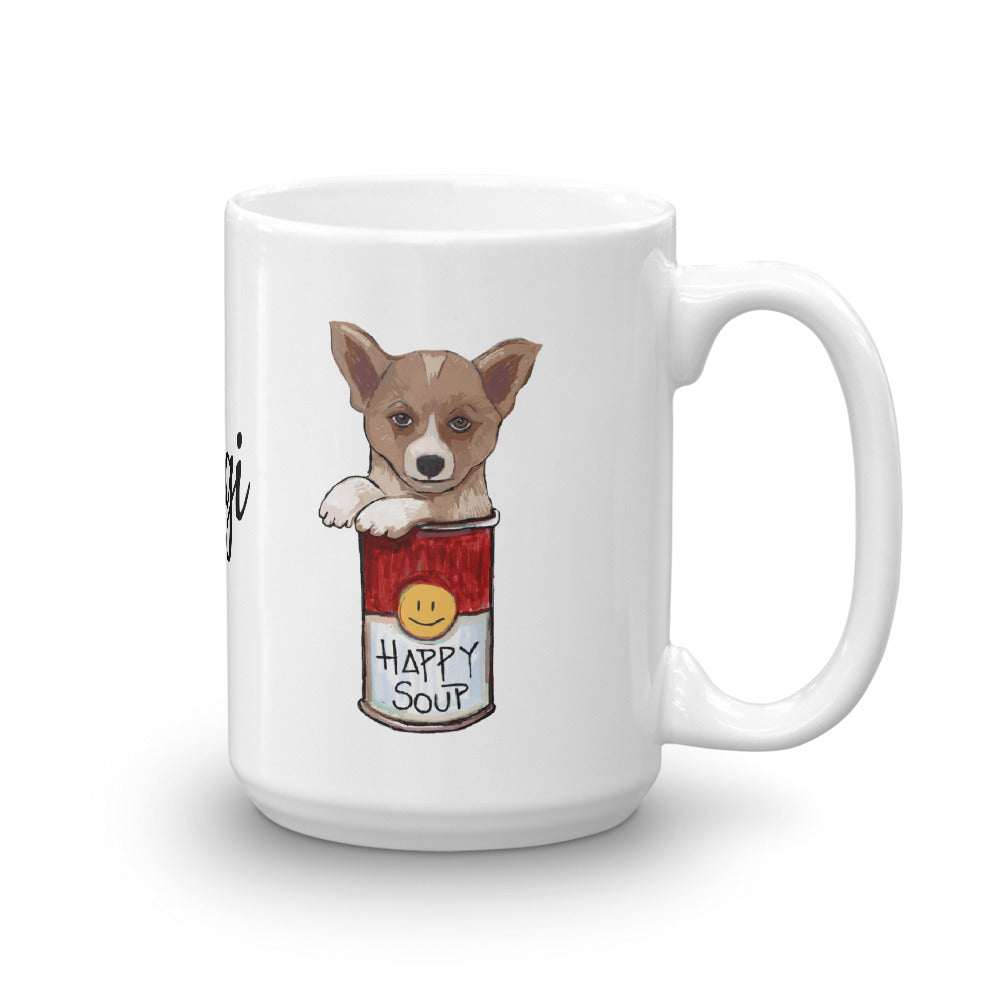 Corgi in the Happy Soup Coffee Mug - pickie shop