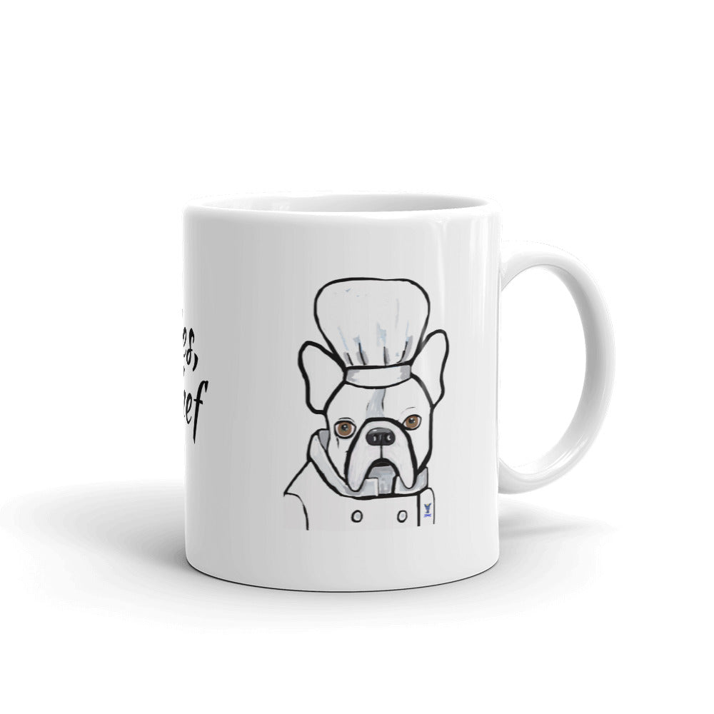 Chef French Bulldog Coffee Mug - pickie shop