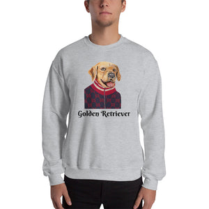 Golden Retriever Sweatshirt I White / Grey - pickie shop