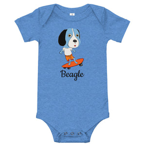 Skateboarding Beagle Baby Onesies® - pickie shop