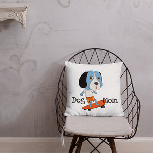 Skateboarding Beagle Premium Pillow with stuffing - pickie shop