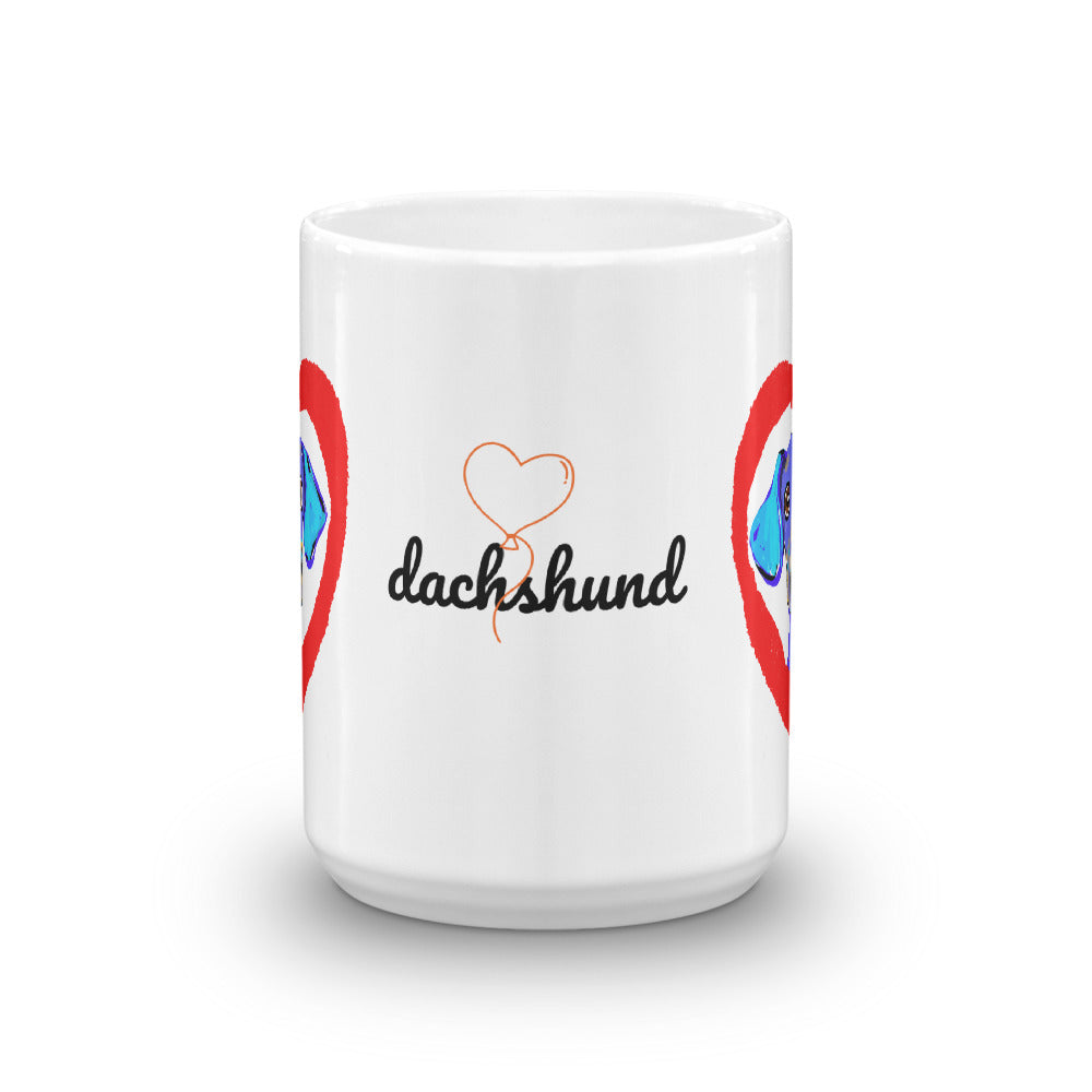 Dachshund in the Heart Coffee Mug - pickie shop