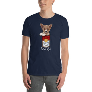 Corgi in the Happy Soup T-Shirt I Black / Navy - pickie shop