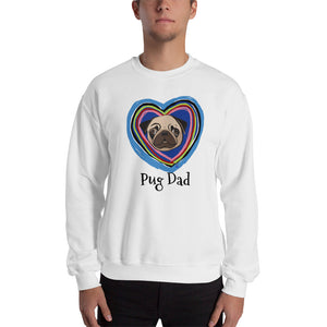 Pug in the Heart Sweatshirt I White / Grey - pickie shop
