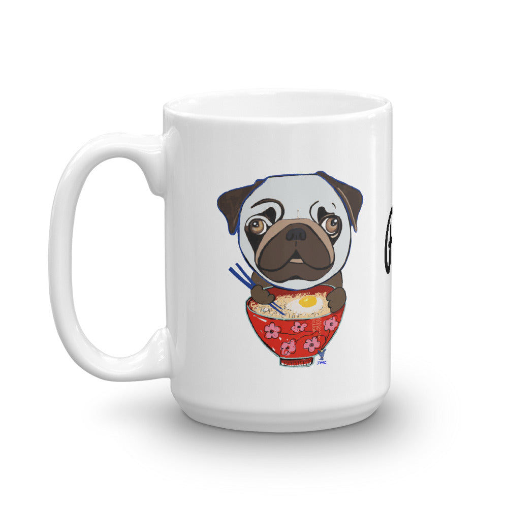 Pug eating Ramen Coffee Mug - pickie shop
