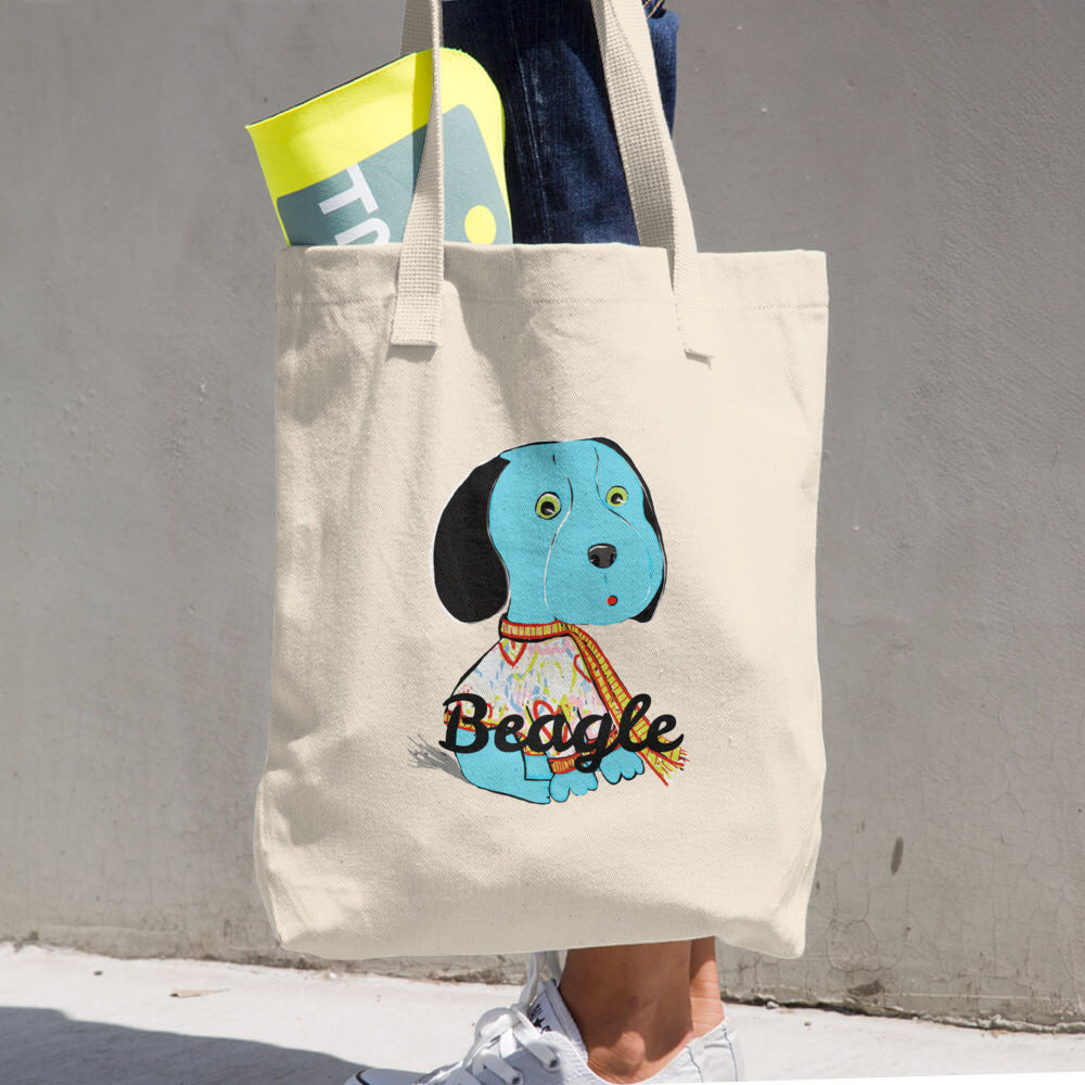 Blue Beagle Cotton Tote Bag - pickie shop