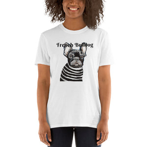 French Bulldog T-Shirt I White / Grey - pickie shop
