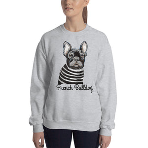 French Bulldog Sweatshirt I White / Grey - pickie shop