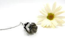Load image into Gallery viewer, Sterling Flower Locket and New Lander Turquoise