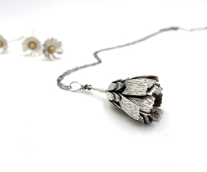 Only This Moment Sterling Flower Locket and Rose Cut Diamond