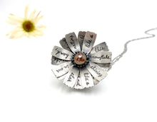 Load image into Gallery viewer, Only This Moment Sterling Flower Locket and Rose Cut Diamond
