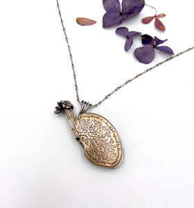 Lung Locket- Sterling Silver and Brass