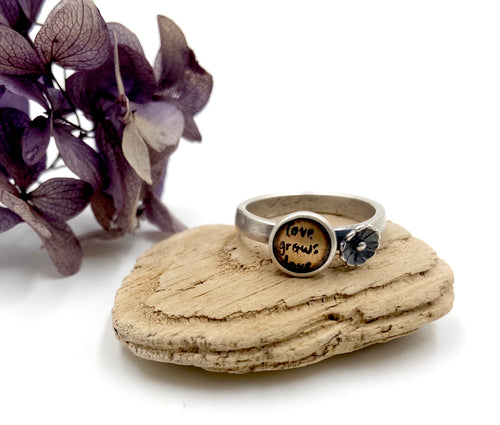Love Grows Love - Sterling and Brass Ring